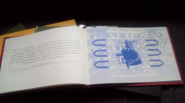 Artist book Blue and white